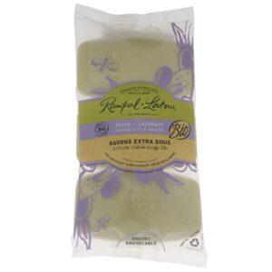 Organic-olive-lavandin-natural soap-3x150g-rampal latour lavencia