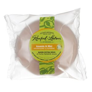 Honey almond-natural-perfumed soap-100g-compostable packaging-rampal latour