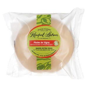 Vine peach-natural-perfumed soap-100g-compostable packaging-rampal latour
