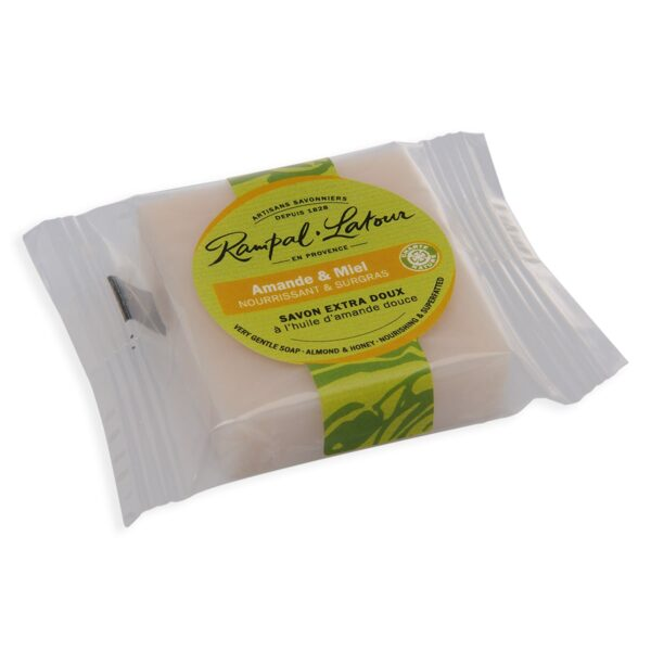 honey almond guest-hotel-perfumed-soap-25g-compostable packaging-Rampal latour